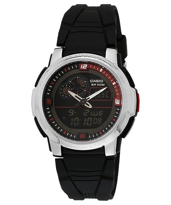 Casio AQF-102W-1BVDF - Reloj (Reloj de Pulsera, Silicona, Acero Inoxidable, Acero Inoxidable, Silicona, Negro, Alrededor): Casio: Amazon.es: Relojes
