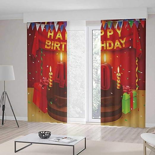 TecBillion - Cortinas para Sala de Estar, decoración de 40 ...