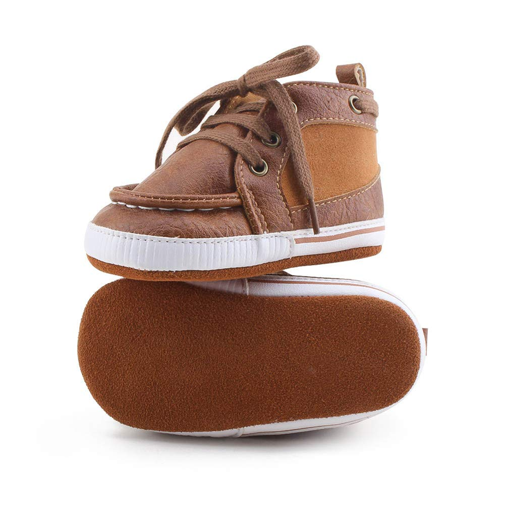 Baby Sneakers Leather Baby Shoes Crib Shoes Toddler Soft Sole Infant Prewalker Shoes