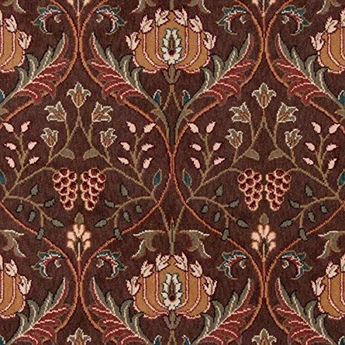 Momeni Rugs PERGAPG-12COO5080 Persian Garden Collection, 100% New Zealand Wool Traditional Area Rug, 5' x 8', Cocoa