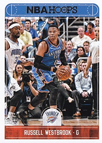 Russell Westbrook 2017 2018 Panini Hoops #208 Mint Oklahoma City Thunder Basketball Card in Protective Screwdown Display Case