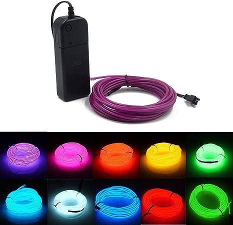 USB-Lichtkabel El-Kabel 5M//16FT Neonr/öhrenleuchten Auto-Innenverkleidung Lichtleiste DC 5V Flexible LED-Leuchten f/ür Autodekor Eisblau