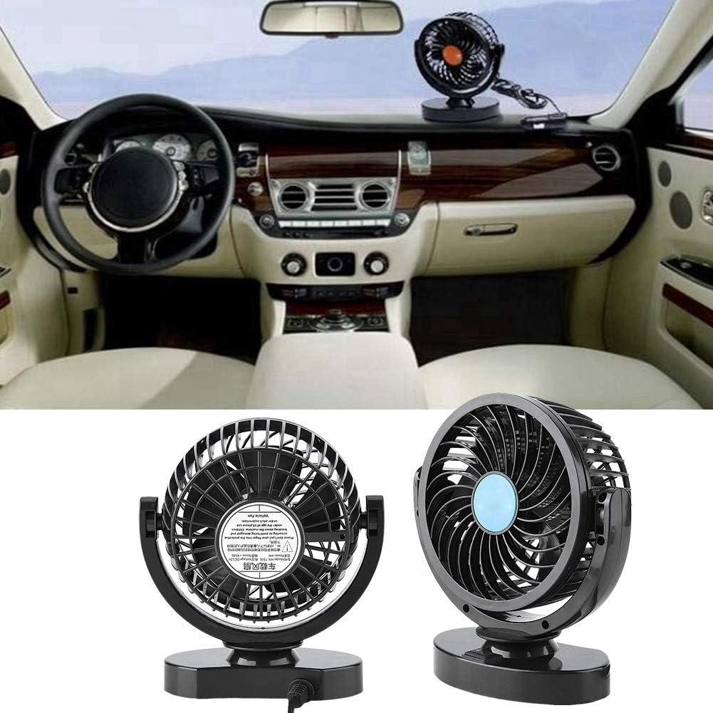 Portable Car Cooling Air Fan Silent Cooler Adjustment for Van SUV RV Boat Auto Vehicles Gorgeri 12V Electric Car Fans