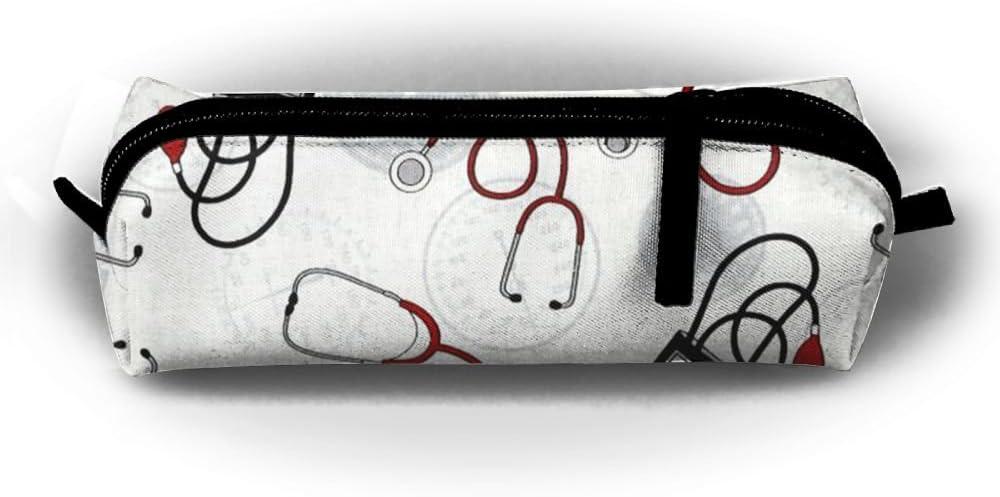 Nurse Doctor Estuche para lápices, bolsa de cosméticos, monedas, bolígrafos, bolsa de papelería, cremallera, almacenamiento de maquillaje: Amazon.es: Hogar