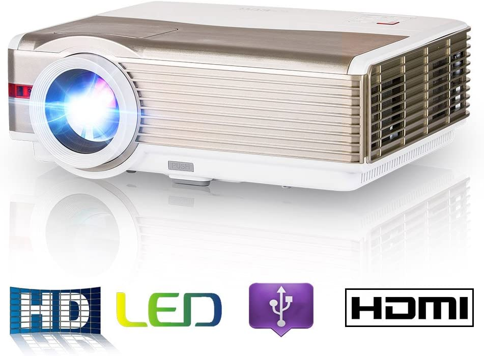 EUG Projector 2019 Upgraded 5000 Lumen LCD Video Projector Home Theater System Full HD 1080P HDMI USB AV DVD Computer Laptop Outdoor Movie Proyector ...