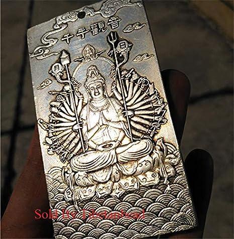 1 34 Bronze Metal Pendant of Kwan Yin in Lotus