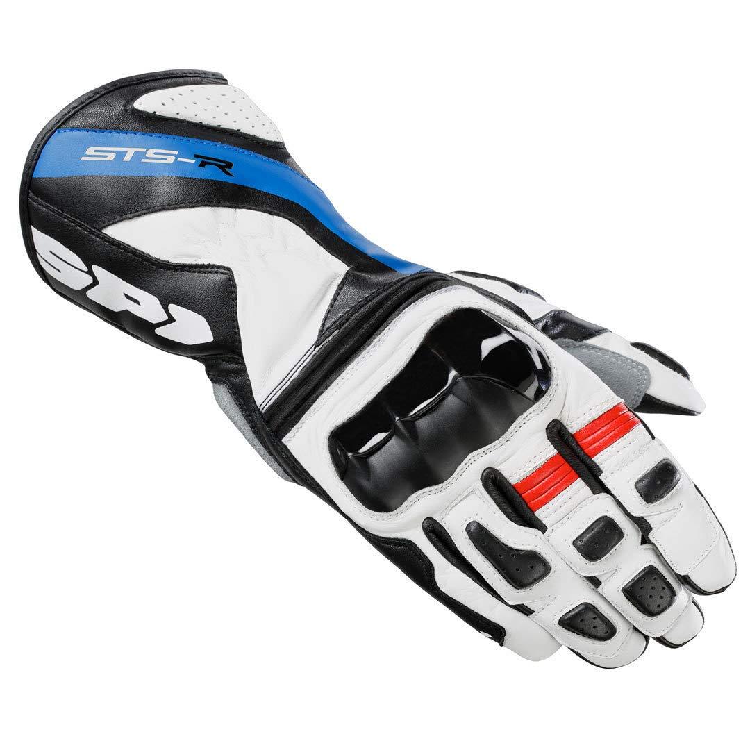 S Schwarz//Wei/ß SPIDI Handschuhe Motorrad STS-R