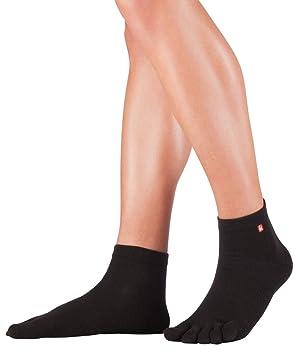 Knitido Track & Trail calcetines tobilleros deportivos con dedos, Coolmax®, Talla:35