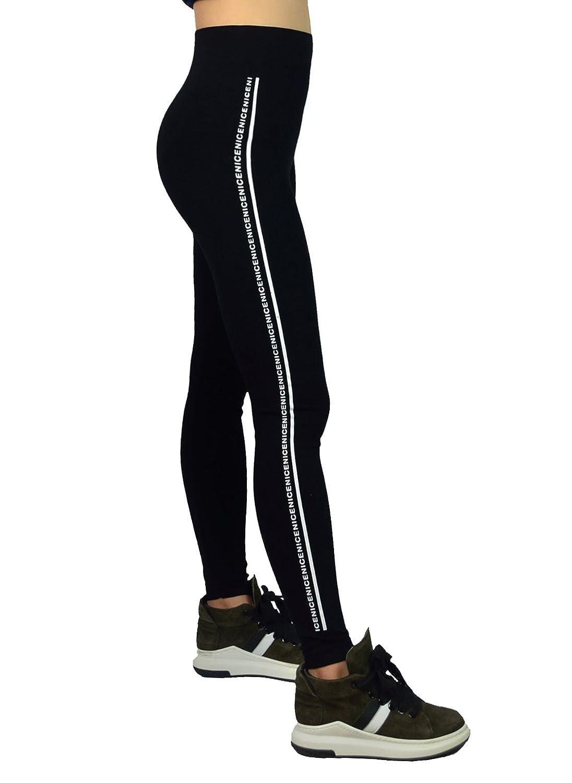 AMORETU Femmes Black Hiver Opaque Stretch Plaine Pleine Longueur Sport Leggings Pantalon