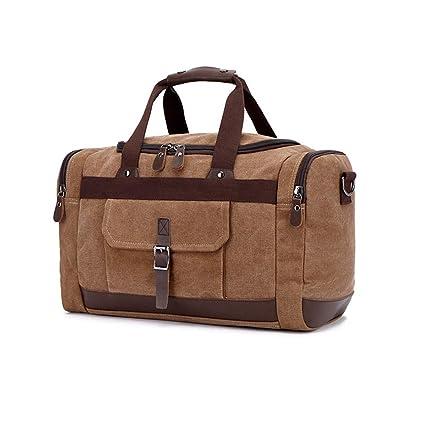 Carriemeow Waterproof and Wear-Resistant Mens Messenger Bag. Color : Coffee Color