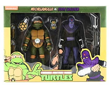 NECA Pack 2 Figuras Michelangelo vs Krang in Bubble Walker ...