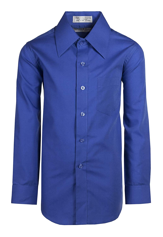 Tuxgear Boys Dress Shirt Long Sleeve Assorted Colors Button Up