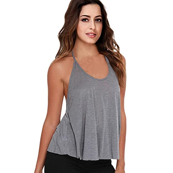 ASHOP Camisetas Muje, Camisetas Sin Mangas Mujer Tallas Grandes EN Oferta Suelto Tops Blusas de
