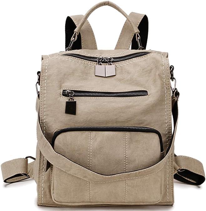 Women Backpack Travel PU Leather Purse Ladies Handbag Rucksack Shoulder Bag 2020