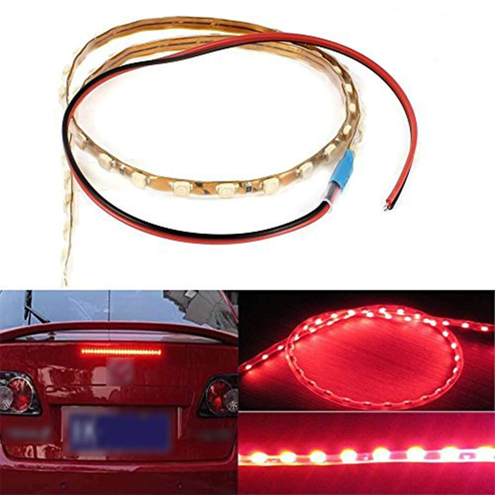 EverBright 4 PCS Super Bright Green 45CM 1210 45-SMD DC 12V Flexible LED Strip Light Waterproof For Car Decoration Strip Light Interior Atmosphere Lamp Vehicle DRL Day Running Under Car Light