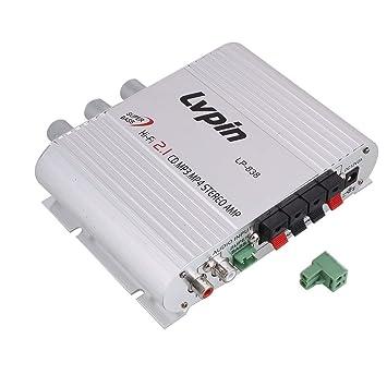 Amplificador de Audio de Alta fidelidad de Shell del Amplificador de Potencia DE 2.1 Canales: Amazon.es: Electrónica