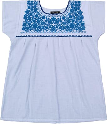 dc818b2ada9 YZXDORWJ Embroidered Mexican Peasant Blouse (M