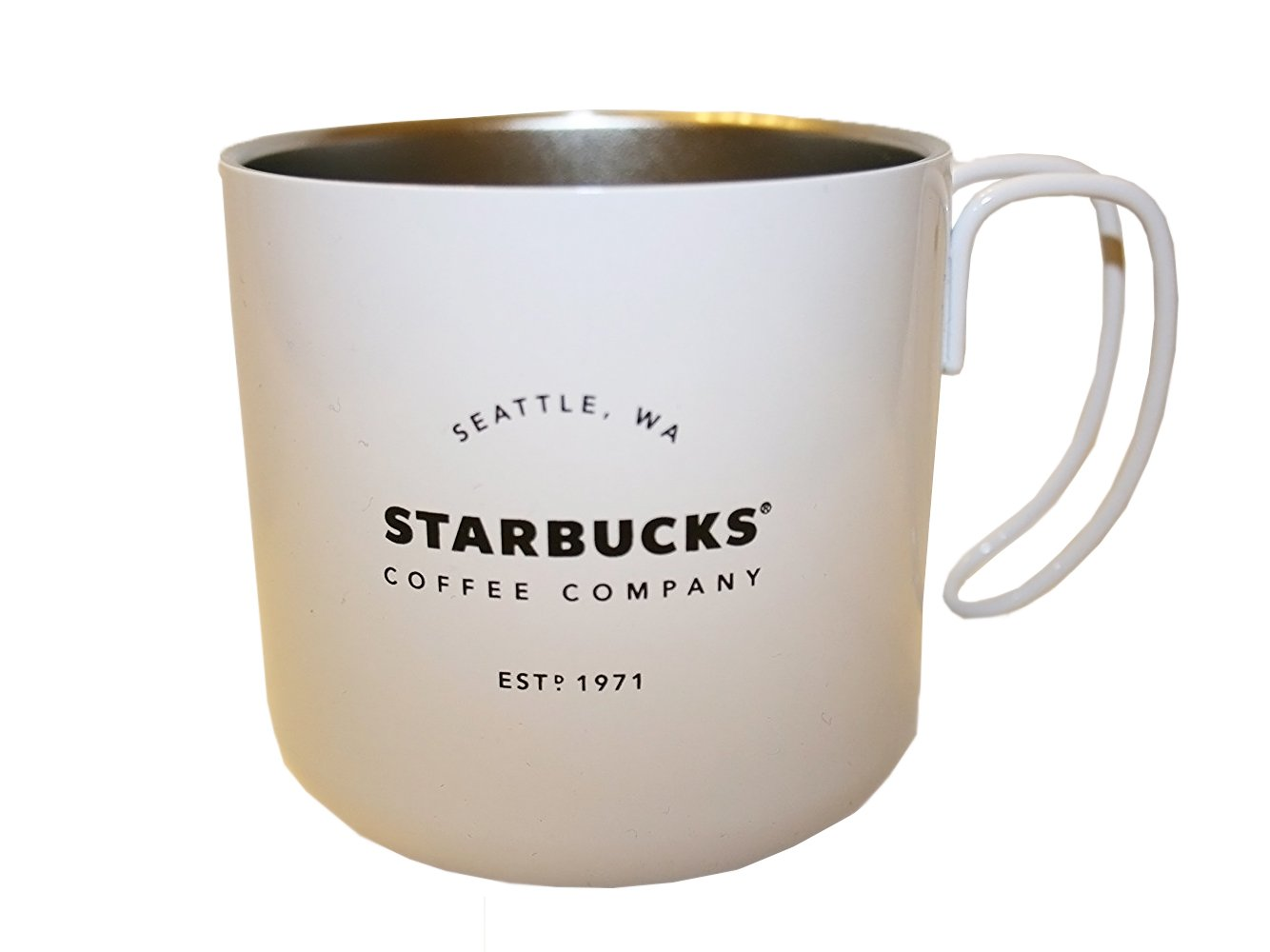 Starbucks Stainless Steel cup with wire handle (White)