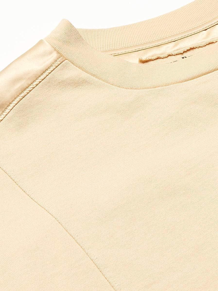 True Religion Herren Short Sleeve Box Fit Crewneck T-Shirt Body Beige
