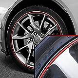 Upgrade Your Auto Wheel Bands Red in Black Pinstripe Rim Edge Trim for Chevrolet Corvette