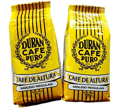 Café Duran Best Ground Panama Coffee Duran Cafe De Altura Regular Ground Highest Quality 1/2 Pound (212gr.) Best Coffee in The World! Two-Pack