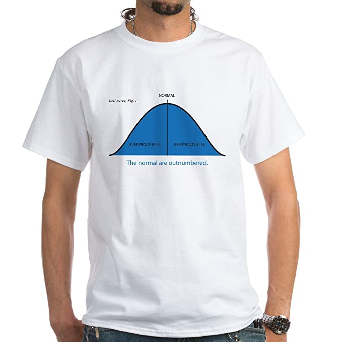 26afd864f Amazon.com: CafePress Normal Bell Curve 100% Cotton T-Shirt, White ...