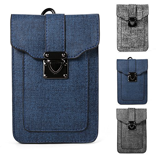 Women's Mini Shoulder Bag Belt Clip Pouch for Apple iPhone X / 8 7 Plus / ZTE Nubia Z17 / Z17 Mini / Blade X Max / Max 3 / A2 Plus / V8 / V8 Pro / Max XL / Axon 7S / Hawkeye / OnePlus 5 3T (Blue) (Hawkeye Belt)
