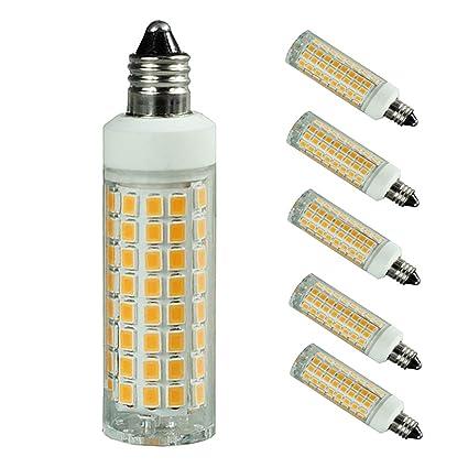 e11 led bulb 75w 100w halogen bulbs replacement 1000 lumens jd e11 rh amazon com