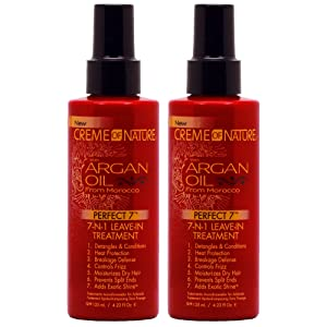 """Creme of Nature Argan Oil Perfect 7-in-1 Leave-in Treatment 4.23oz""""Pack of 2"""""""