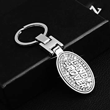 YAOS Car Keychain Keyring Leather Pendant Logo for Vehicle Metal Silver