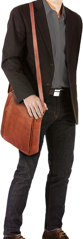 STILORD Paul Sac Bandouli/ère pour Homme Cuir Vintage Sac pour Tablette MacBook 13,3 Pouces A4 Besace Sac Messager Sac /à Main Couleur:Cognac Brillant
