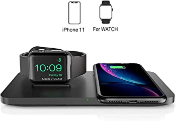 Seneo 2-In-1 Dual Wireless Charging Pad with iWatch Stand