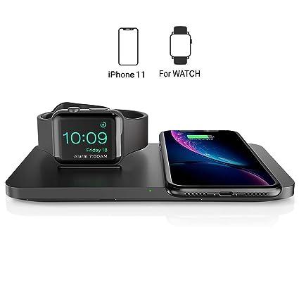 Amazon.com: Seneo Dual 2 en 1 cargador inalámbrico con ...