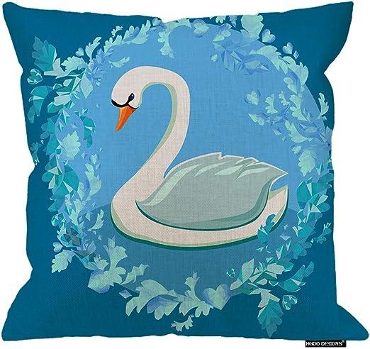 Swan Throw Pillow Cojín, Hermosa Caricatura, romántica, Blanca ...