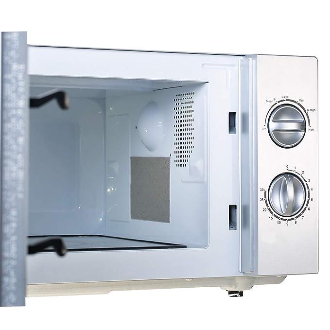 9 Piezas de Placa de Mica de Microondas Cubierta de Guía de Onda Piezas de Reparación de Microondas 13 x 13 cm con Tijeras para Electrodoméstico