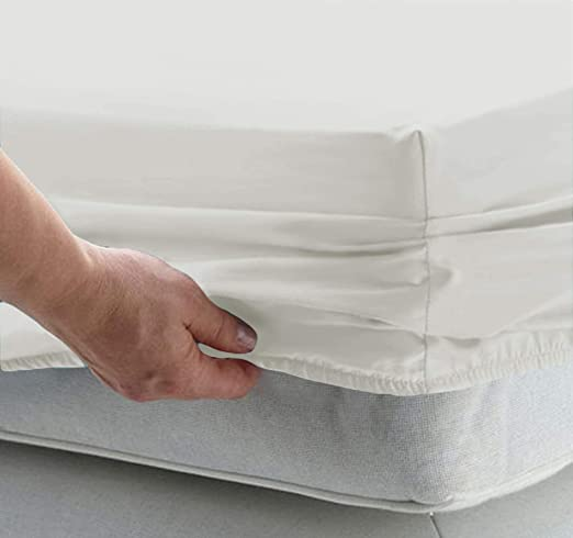 Full Size Fitted Sheet-Single Fitted Sheet Full-Fitted Sheet Only-Fitted Sheet Deep Pocket Softer 100/% Egyptian Cotton-1 Full Fitted Sheet Only Sold Separate Fitted Sheet for Full Mattress