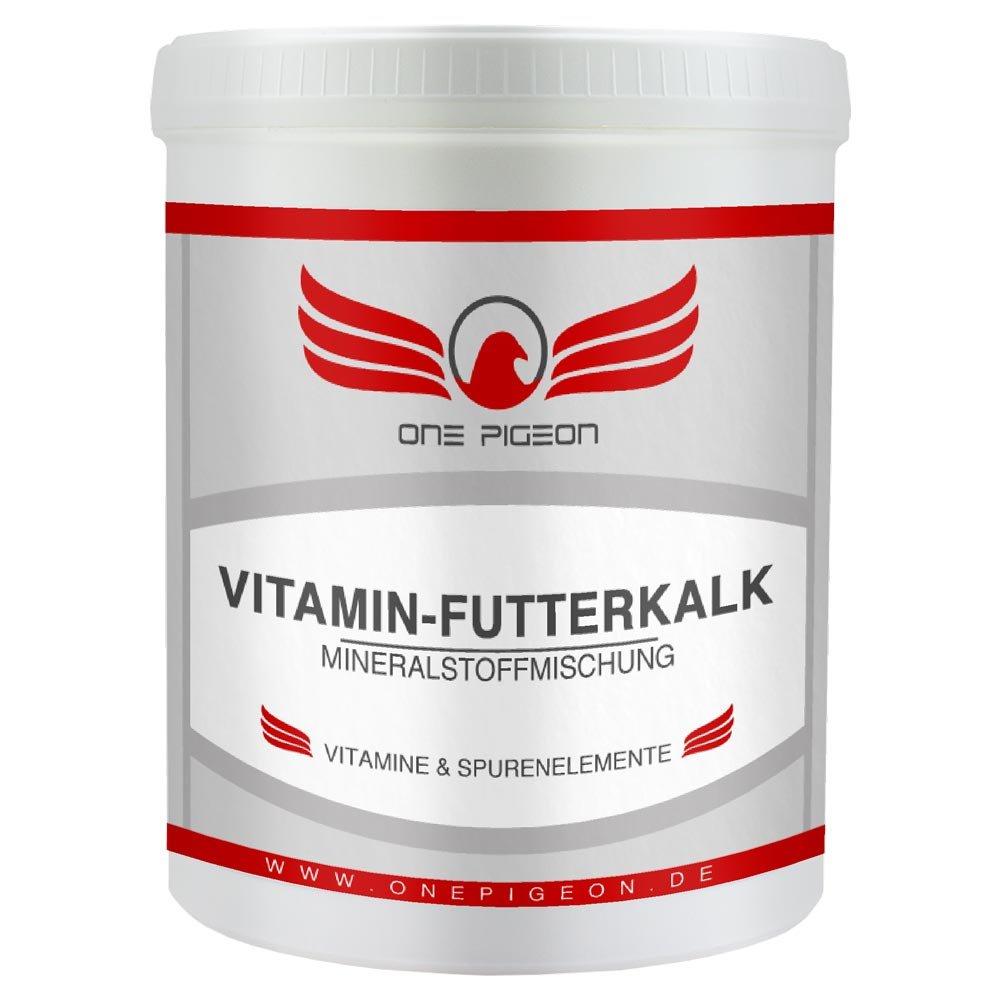ONE PIGEON VITAMIN-FUTTERKALK - 1 kg - für Tauben - rote Mineralstoffmischung - angereichert mit Eisen - kräftiger Knochenbau - glänzendes Gefieder one concept GmbH
