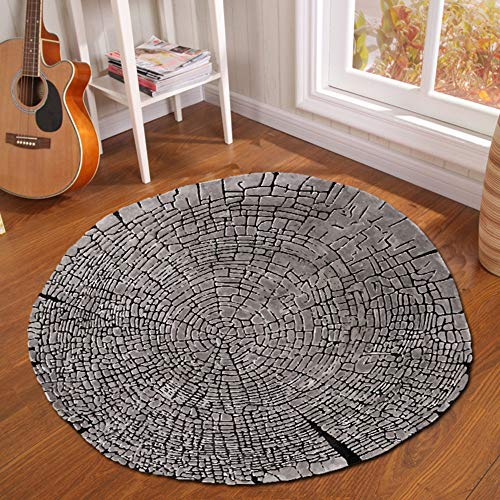 Round Carpet - Creative Tree Pier Print Round Carpet Mat Bedroom Bedside Living Room Coffee Table Hanging Basket Computer Chair Anti-Slip Mat, 100100CM (Chairs Basket Pier One)