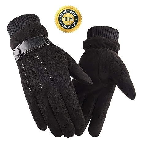 2689e2c76e32 Gants Hiver Homme,Gants Chauffants D hiver Gants Sport à écran Tactile Gants  D