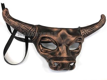 Cobre Negro Máscara de vaca Bull Animal Masquerade máscara de Halloween disfraz Cosplay fiesta