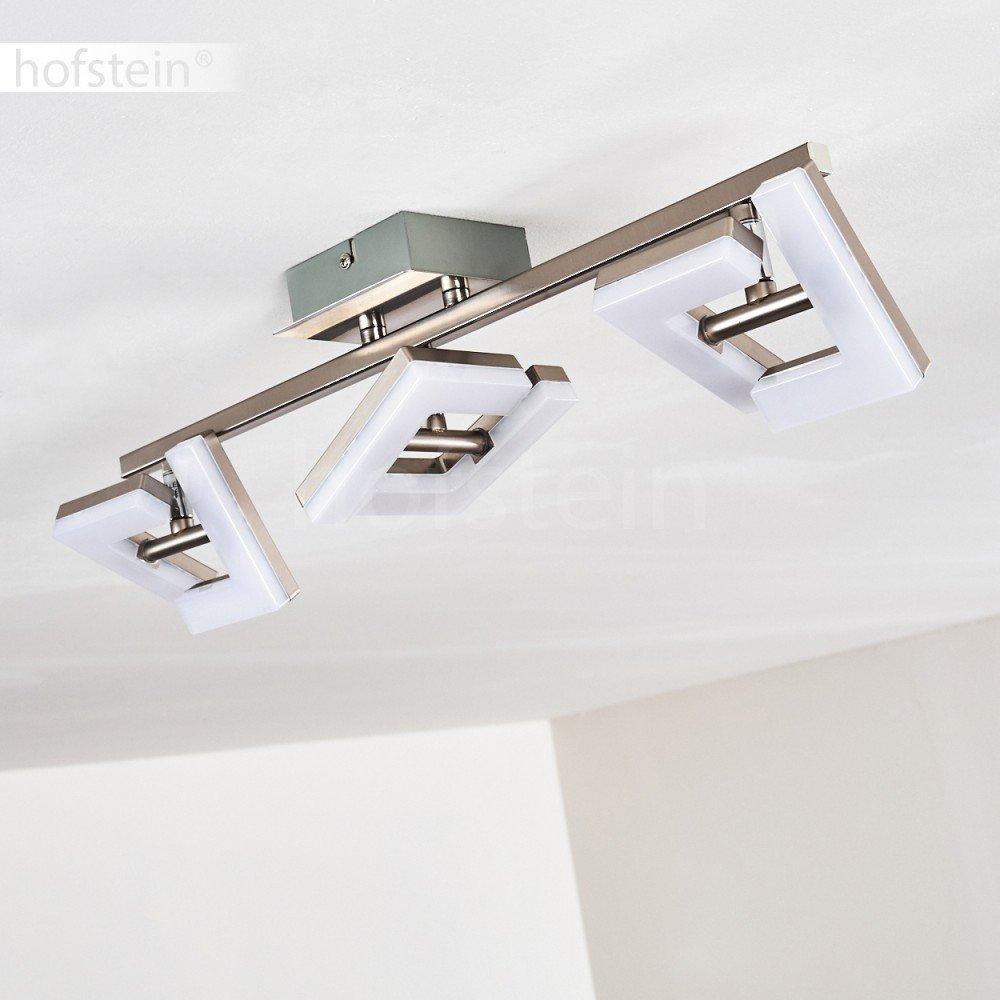 LED Deckenspot Lago 2-flammig aus aus aus Metall in Nickel matt, Deckenstrahler mit fest eingebauten LED, 3000 Kelvin, 800 Lumen - Zimmerlampe für Wohnzimmer, Schlafzimmer, Küche - verstellbare Strahler 74c286