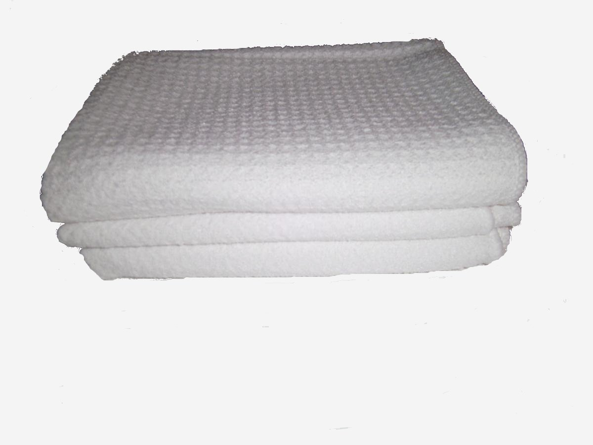 White Waffle Weave Microfiber Towels _ 3 Towels 16'' By 24'' _ 6 Square Feet of Professional Quality Towels Plus One Bonus White All Purpose Cleaning Towel.