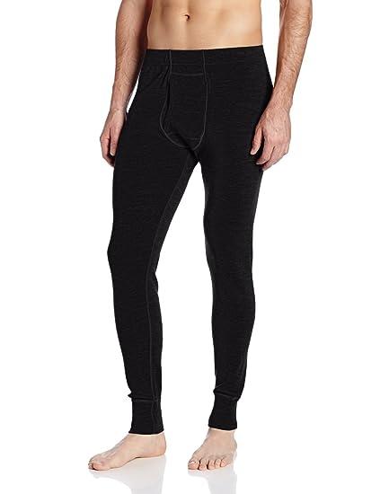 cab756ede913ff Minus33 Merino Wool Men's Kancamagus Midweight Bottom, Black, 3X-Large