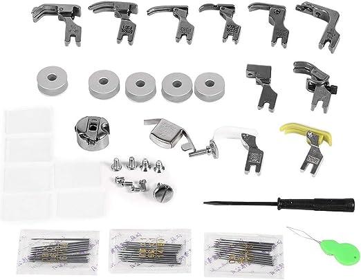 17 juegos de pies de máquina de coser universales Kit de ...