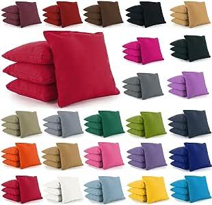 Cornhole Bags Set of 8 by Tailor Spot Corn-Filled ACA Regulation 25+ Colors (Custom)