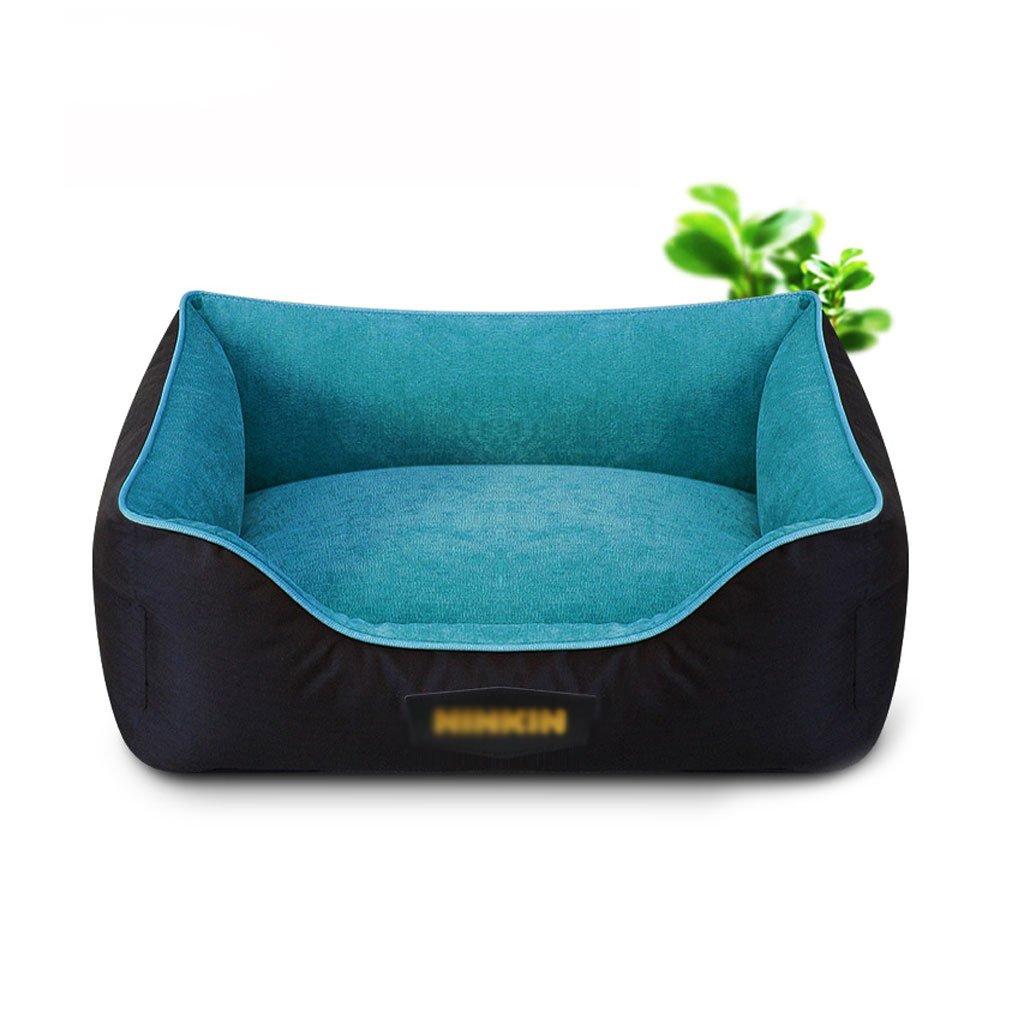 bluee 5874cmFUTER Rectangle Pet Bed Dog Mat Pet Mat Pet Sleeping Pad Cat Dog Nest Washable Pet Supplies (color   Purple, Size   45  58cm)