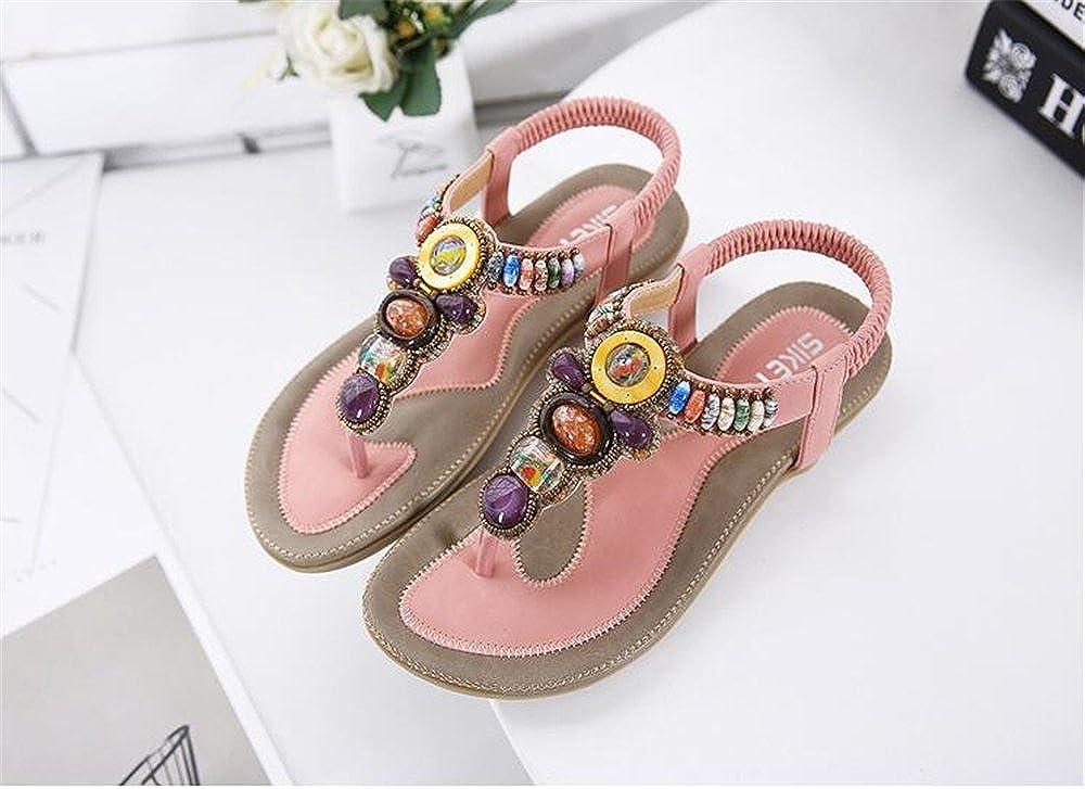 US Women Pink 40//9.5 B Womens Flats Sandals Suede Summer Open Toe Roman Sandals M