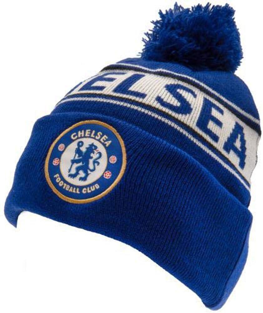 Chelsea FC Unisex TX Bommelm/ütze f/ür Erwachsene