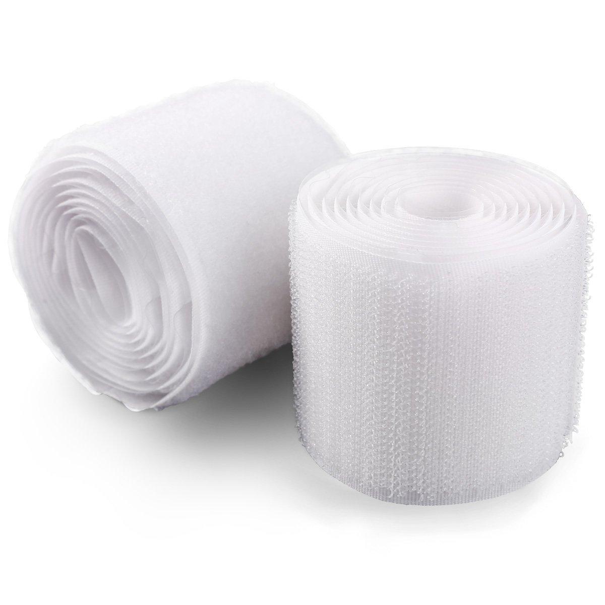 Anladia Bande Velcro autocollante Blanc 1 m x 50 mm