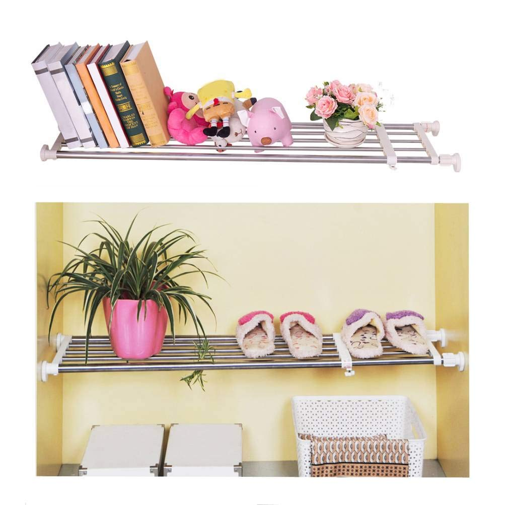 Baoyouni Tension Shelf Expandable Clothes Closet Organizer Rack Adjustable DIY Wardrobe Dividers Separator Ivory, 15.75-23.62 Inches Shanghai Bless Industry Co. Ltd